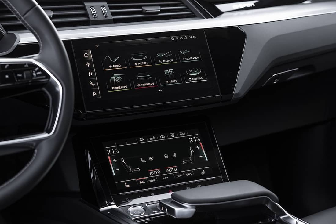 AS24 Test Audi E-Tron dashboard